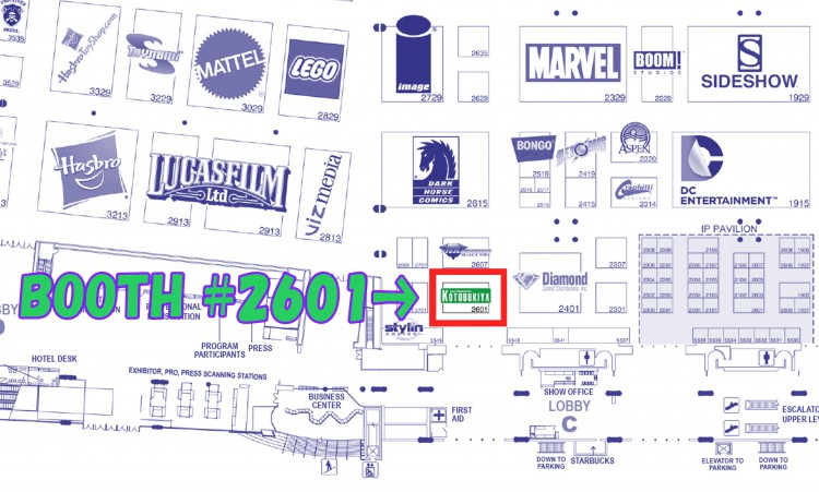 SDCC Booth Number